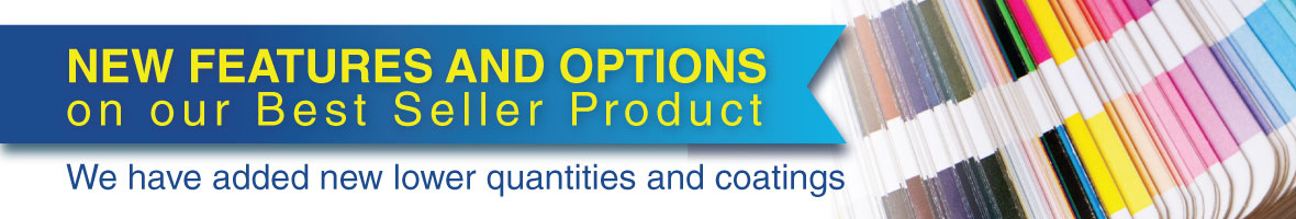 Now you can order Lower Quantities and New coatings for Presentation Folders
