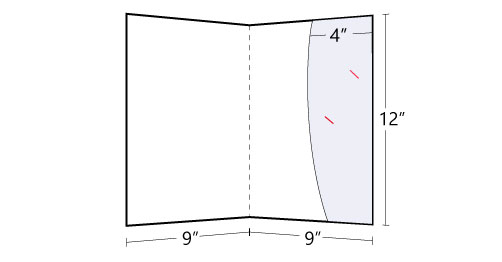 Lateral Curved Pocket Folder